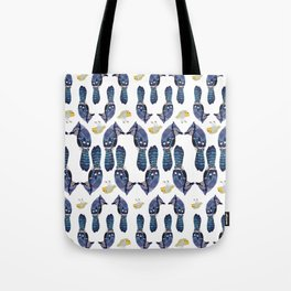 Robin and the blue Birds Tote Bag