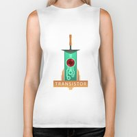 transistor Biker Tanks featuring Transistor [2] by Spiritius