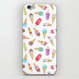 Scattered Ice Creams and Ice Lollies iPhone Skin