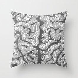 Brain vintage illustration Throw Pillow
