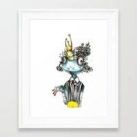 frog Framed Art Prints featuring frog by krigkou petroula