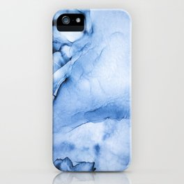 Sapphire Abstract Art | Painting | Watercolour | Splatter | Ocean Vibes iPhone Case