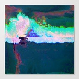 18-23-46 (Skyline Cloud Glitch) Canvas Print