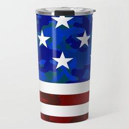 US Flag (Camouflage) Travel Mug