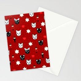Christmas Cat Nutcracker Pattern Stationery Cards