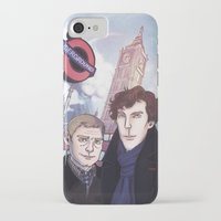johnlock iPhone & iPod Cases featuring London Johnlock by enerjax