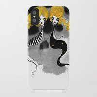 twins iPhone & iPod Cases featuring Twins by Dnzsea