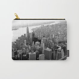 New York City Skyline, Manhattan in Black & White Carry-All Pouch