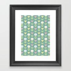 Flower pattern Framed Art Print