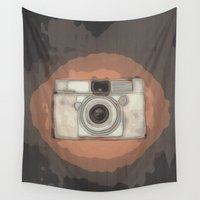 vintage camera Wall Tapestries featuring Camera by Mr and Mrs Quirynen