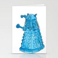 dalek Stationery Cards featuring Dalek by Margret Stewart