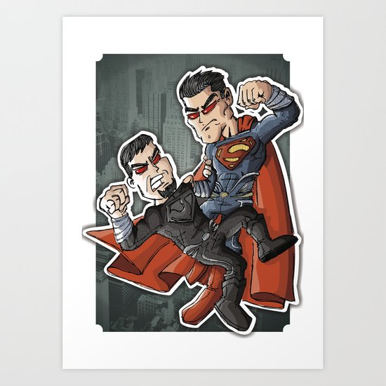 Super e Zod Art Print