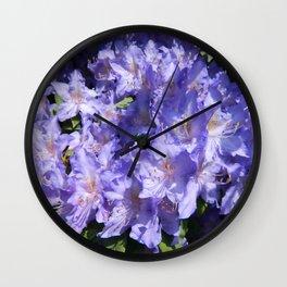Indigo Azaleas Wall Clock
