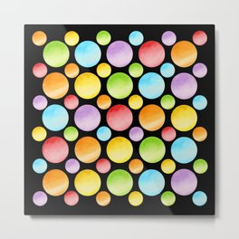 Candy Rainbow Polka Dots Metal Print