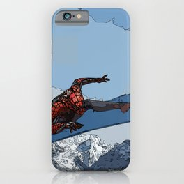 ski thrill over the mountain//Mountain Ski Landscape Black and White Photography Vibes iPhone Case