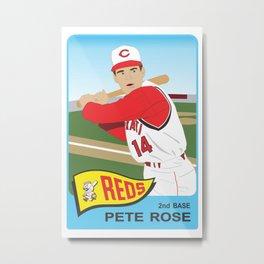 Reds - Pete Rose - 1965 (Vector Art) Metal Print