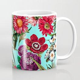 Marijuana and Floral Pattern II Coffee Mug