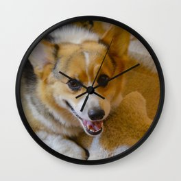 Josh The Corgi Wall Clock