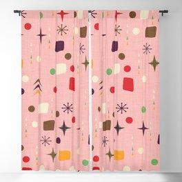 Atomic Pattern Pink Purple  #midcenturymodern Blackout Curtain