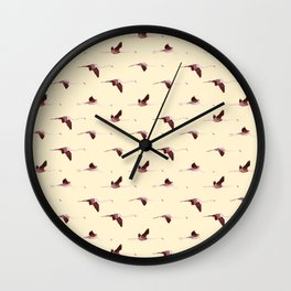 Flying Flamingos 7 Wall Clock