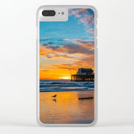 December Skies at Newport Pier Clear iPhone Case