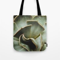 succulent Tote Bags featuring Succulent by Olivia Joy StClaire