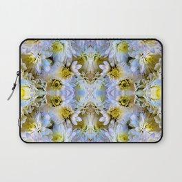 Bue Yellow Pastel Chrysanthemums Design Laptop Sleeve
