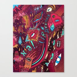 mash and sleep Canvas Print