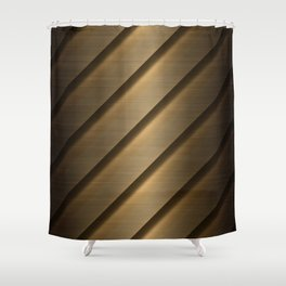 Copper Brass Metal Pipe Shower Curtain