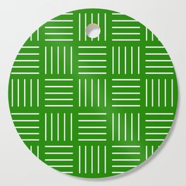 Abstract geometric pattern - green and white. Cutting Board