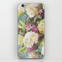 Festive Vintage Floral iPhone Skin