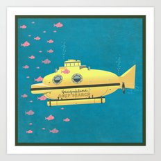 Jacqueline (The Life Aquatic) Art Print