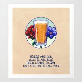 Ode To Beer Art Print