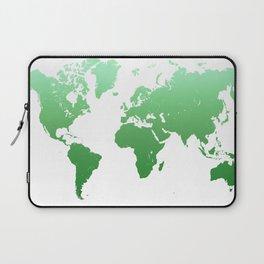 Green World Map Laptop Sleeve