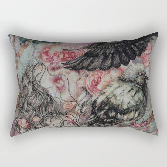 Words Unsaid Rectangular Pillow