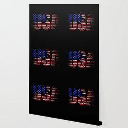Distressed USA Flag Wallpaper