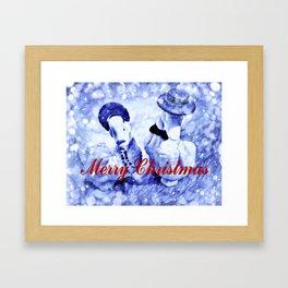 A Blue Christmas Framed Art Print