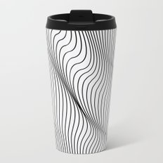 Minimal Curves Metal Travel Mug