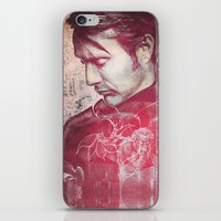 hannibal iPhone & iPod Skins featuring Hannibal by András Récze