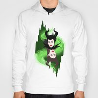 maleficent Hoodies featuring Maleficent by Pendientera