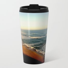 Sunset glowing on the limestone Cliffs Travel Mug