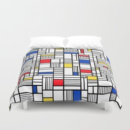Map Lines Mond Duvet Cover