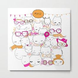 Cats&Cats Metal Print