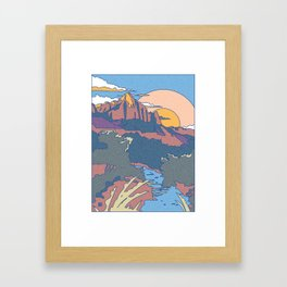 ZION Framed Art Print