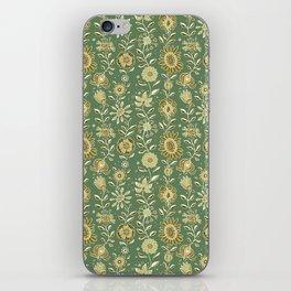 wonky wildflower waterfall ... tan & greens iPhone Skin