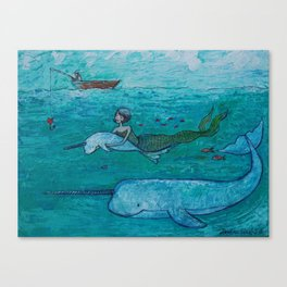 love in the ocean Canvas Print