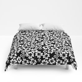 Floral black and white pattern Comforters