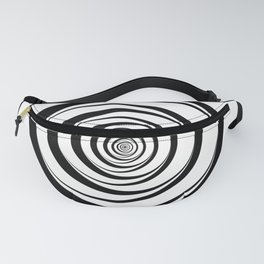 Black White Circles Optical Illusion Fanny Pack