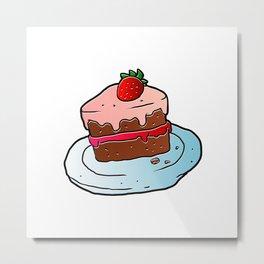 Slice Of Cake. Metal Print