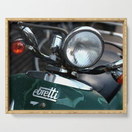 Green Italian Scooter Serving Tray